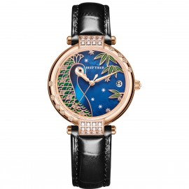 Love Peacock Automatic Leather Women Watch RGA1587-PLB