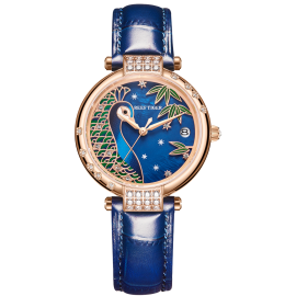 Love Peacock Automatic Leather Women Watch RGA1587-PLL