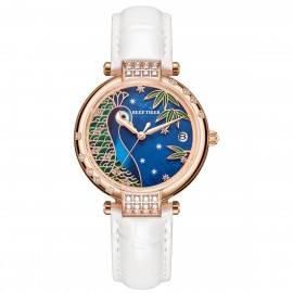 Love Peacock Automatic Leather Women Watch RGA1589-PLBW